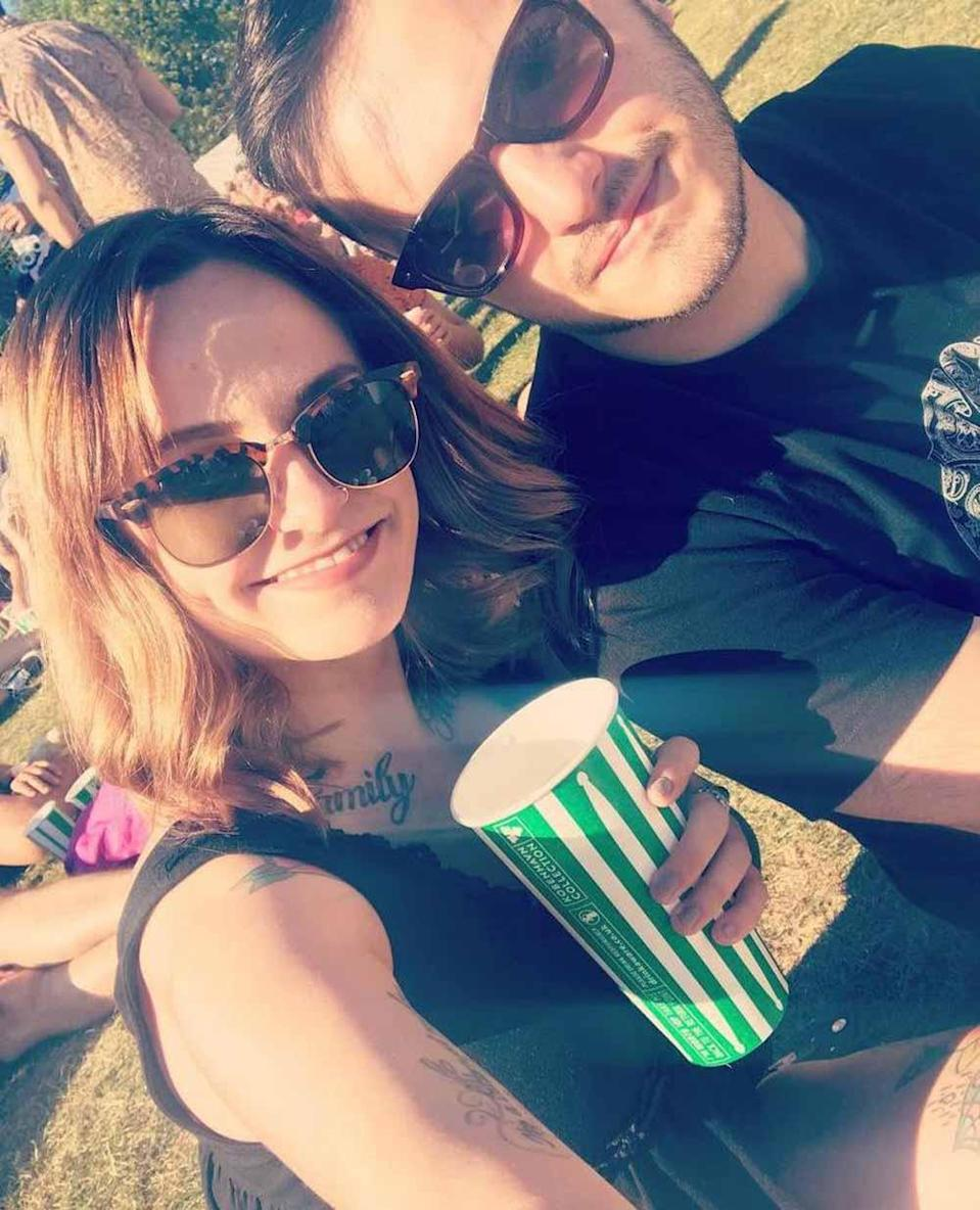 Kerrie with boyfriend Danny at a Liam Gallagher concert in London in 2018. PA REAL LIFE/ COLLECT