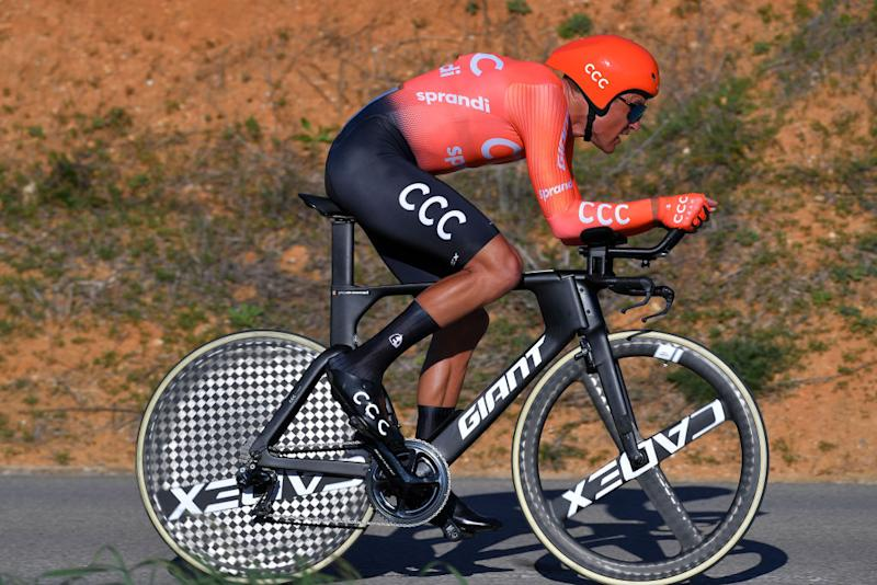 LAGOA PORTUGAL FEBRUARY 23 Greg Van Avermaet of Belgium and CCC Team during the 46th Volta ao Algarve 2020 Stage 5 a 203km Individual Time Trial stage from Lagoa to Lagoa ITT VAlgarve2020 on February 23 2020 in Lagoa Portugal Photo by Tim de WaeleGetty Images