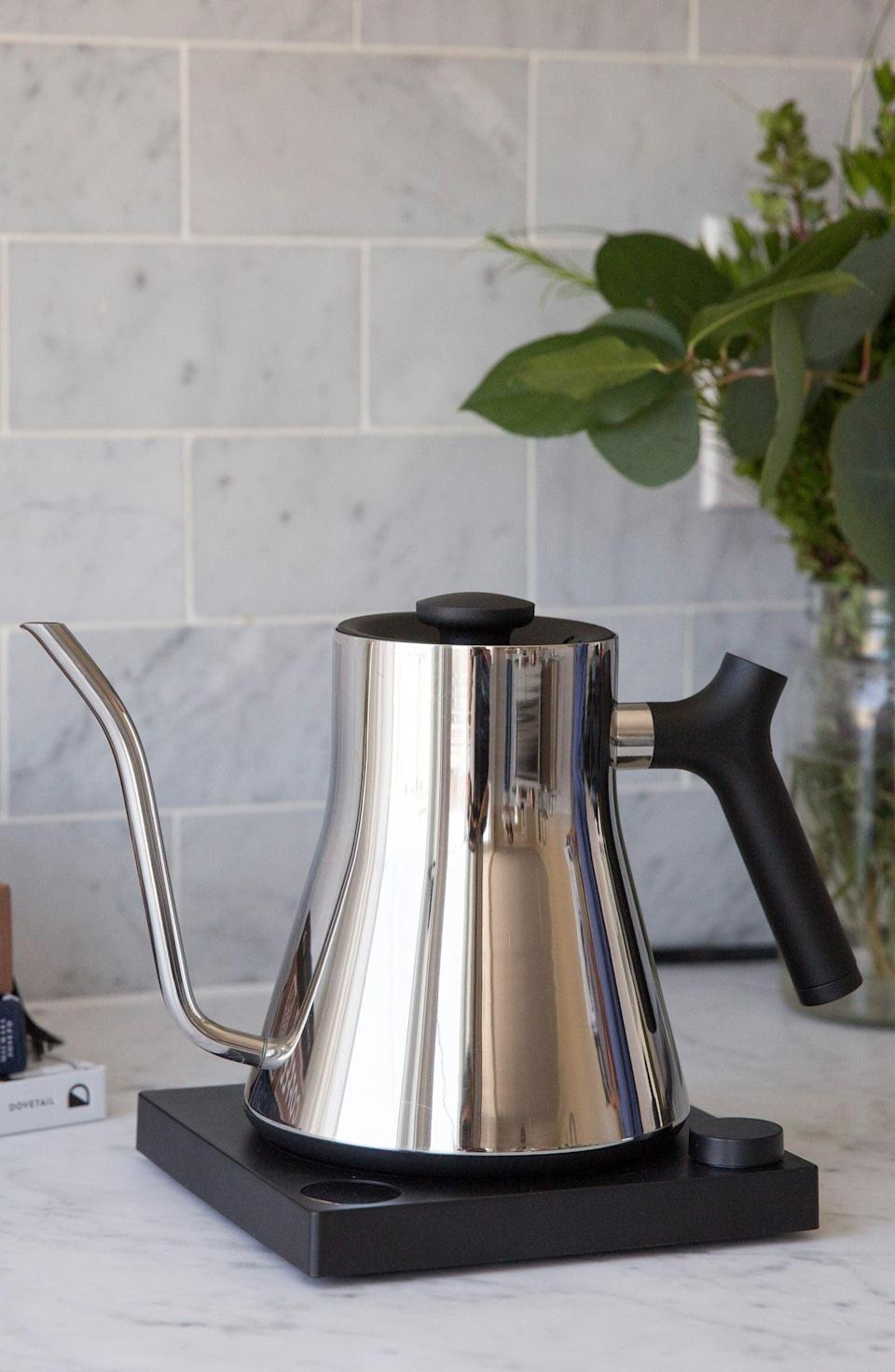 <p>The popular <span>Fellow Stagg EKG Electric Pour Over Kettle</span> ($149) is a customer favorite. It's great for people who love pour-over coffee.</p>