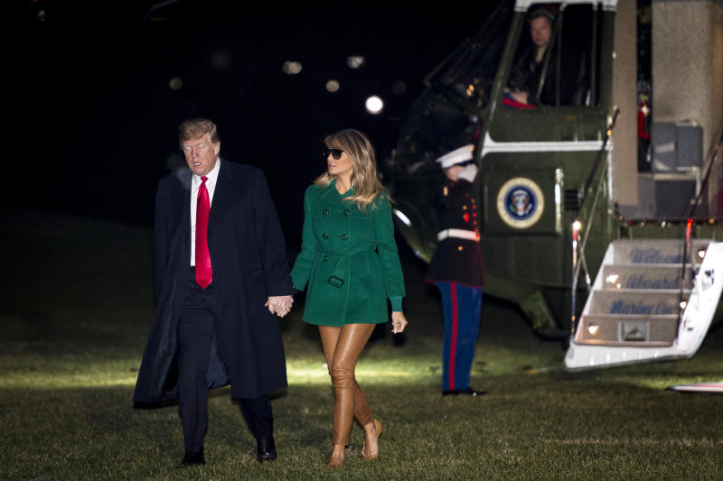 Melania Trump wore Timberland boots on surprise trip to