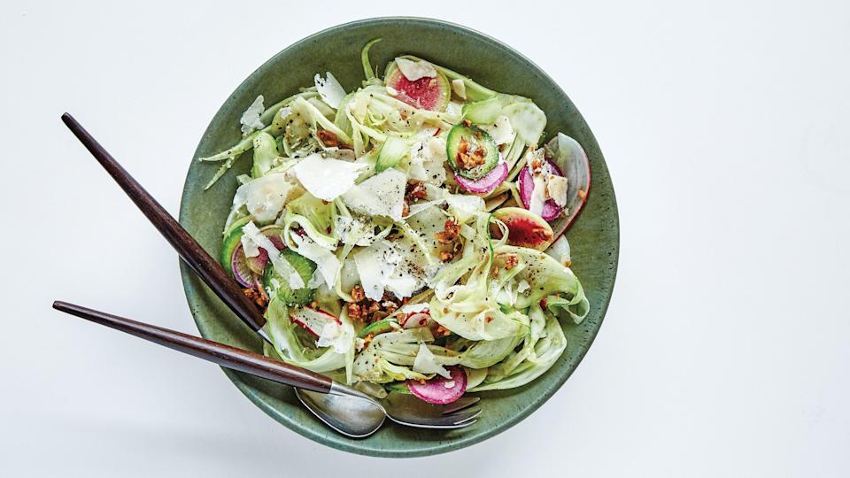 """<a href=""""https://www.epicurious.com/recipes/food/views/ice-water-shaved-vegetable-salad?mbid=synd_yahoo_rss"""" rel=""""nofollow noopener"""" target=""""_blank"""" data-ylk=""""slk:See recipe."""" class=""""link rapid-noclick-resp"""">See recipe.</a>"""