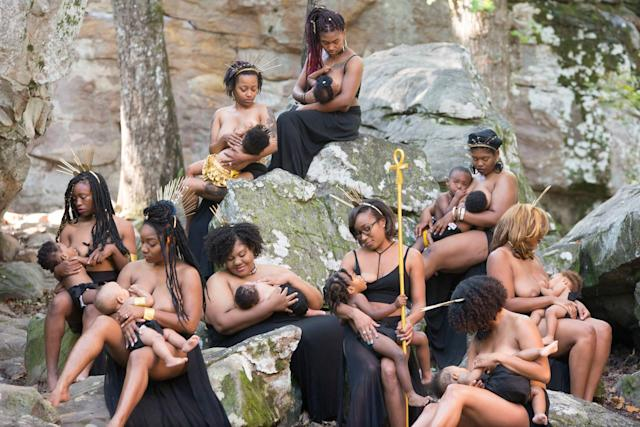 "Nine breastfeeding moms from Alabama set an example to others in their community. (Photo: <a href=""https://www.instagram.com/hc_incorporated/"" rel=""nofollow noopener"" target=""_blank"" data-ylk=""slk:Lakisha Cohill"" class=""link rapid-noclick-resp"">Lakisha Cohill</a>, owner of <a href=""https://h-cinc.smugmug.com/"" rel=""nofollow noopener"" target=""_blank"" data-ylk=""slk:H&C INC"" class=""link rapid-noclick-resp"">H&C INC</a>)"