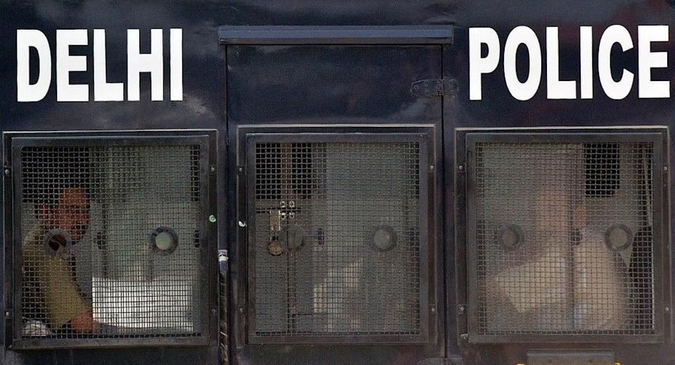 File image: Delhi Police say they are working to verify statements of four people who were present in the flat at the time  (AFP via Getty Images)