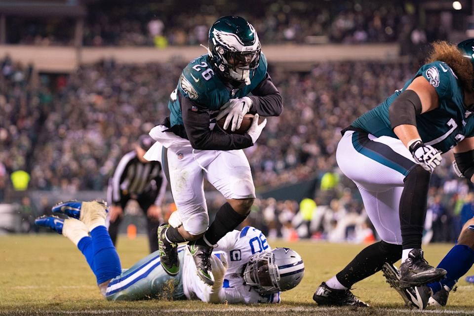 Philadelphia Eagles running back Miles Sanders ran for 867 yards in 2020. (Bill Streicher/USA TODAY Sports)