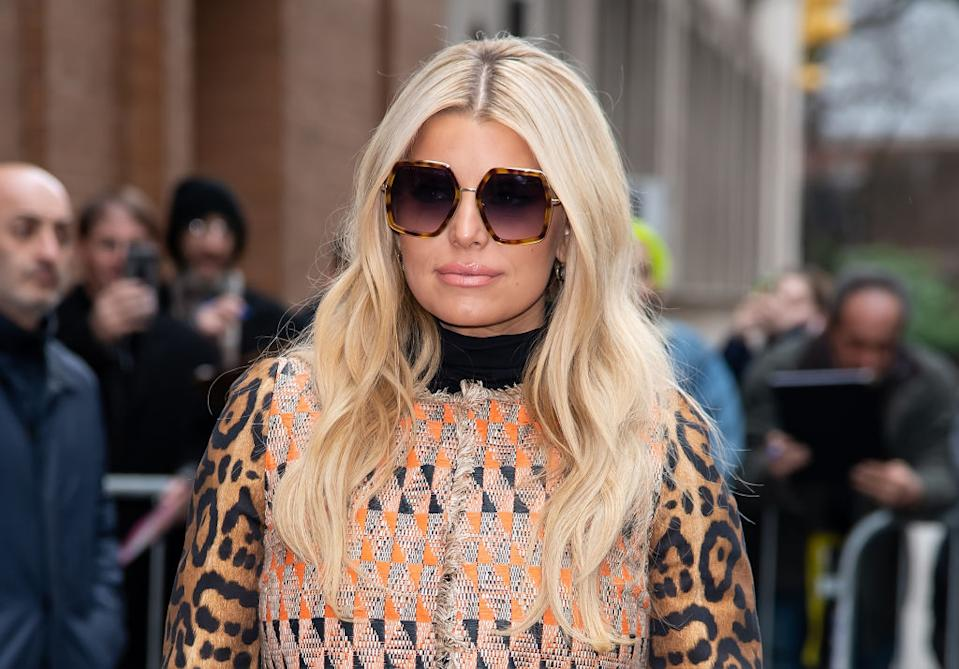 """Jessica Simpson has hit back at an article in Vogue which she claims """"body shamed"""" her, pictured here in New York in February 2020. (Getty Images)"""