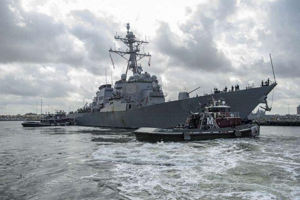 PHOTO: The Arleigh Burke-class guided-missile destroyer USS Mahan (DDG 72) returns to its homeport of Norfolk, Va. (U.S. Navy)