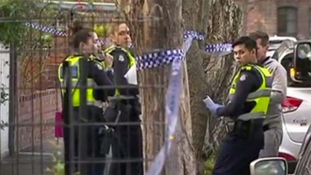 Emergency services were called to the home at Richmond in Melbourne's southeast on Tuesday. Photo: 7 News