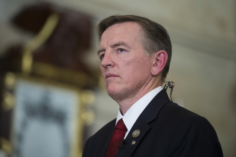 Six of Rep. Paul Gosar's siblings appeared in attack ads supporting his opponent. (Tom Williams via Getty Images)