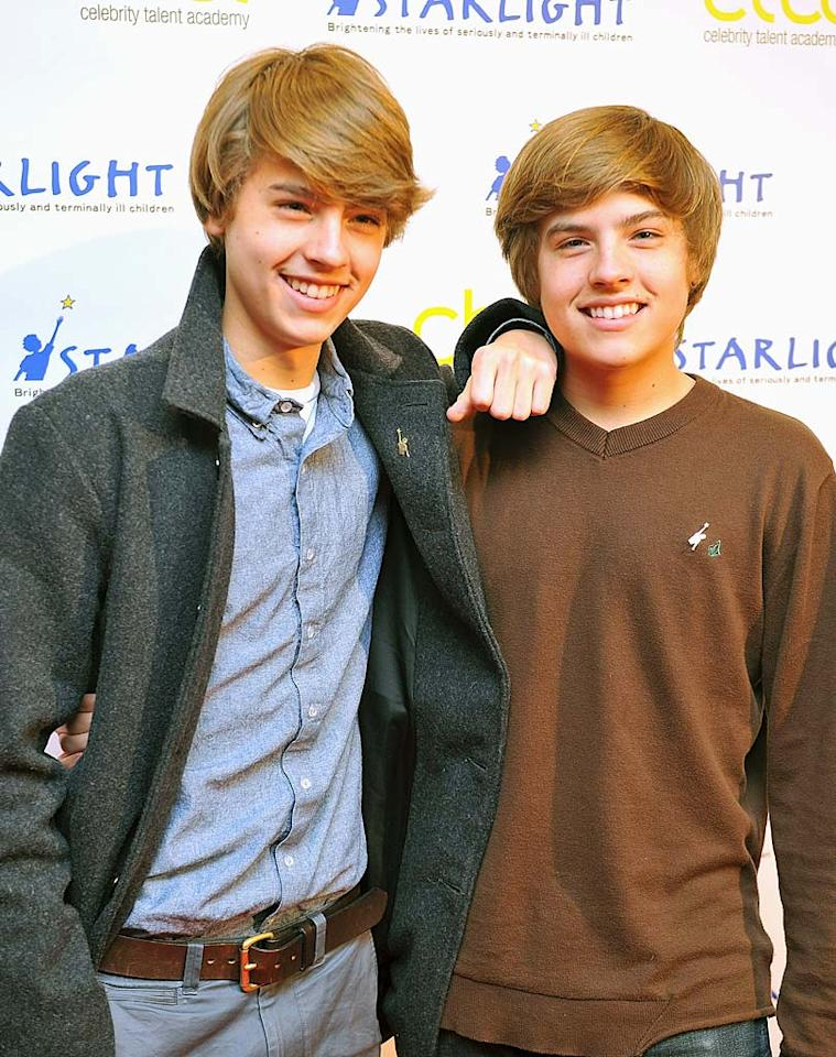 """Dylan and Cole Sprouse (""""Big Daddy"""") turn 19. Ferdaus Shamim/<a href=""""http://www.wireimage.com"""" target=""""new"""">WireImage.com</a> - January 29, 2011"""