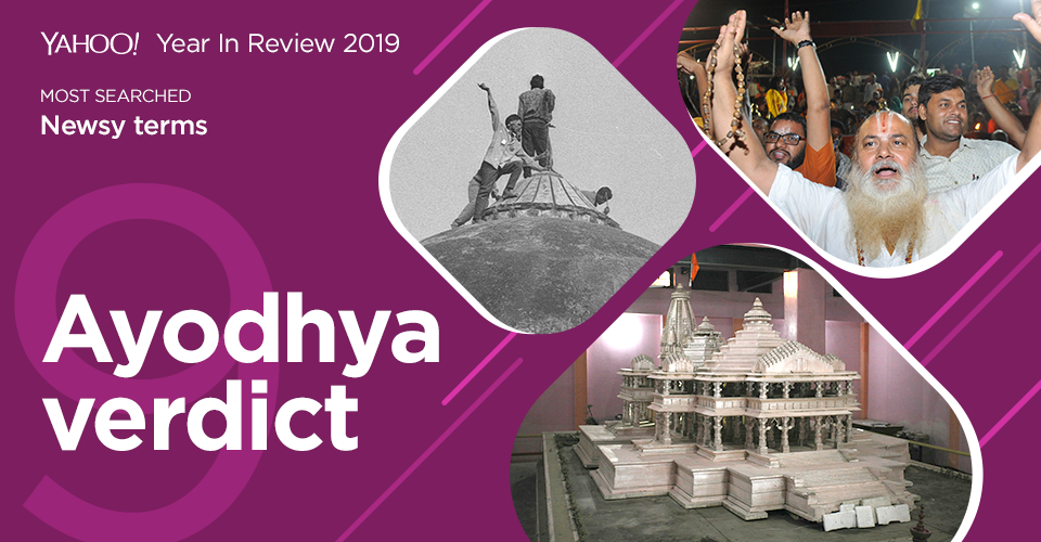 The long awaited Ayodhya verdict was finally passed on November 6. The Supreme Court ordered the disputed land to be given to the Ram Janmabhoomi trust. It also asked the government to allocate five acres of land in Ayodhya to the Sunni Waqf Board for the construction of a mosque.