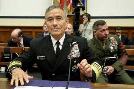 The Commander of the U.S. Pacific Command, Admiral Harry Harris, waits to testify before a House Armed Services Committee hearing on