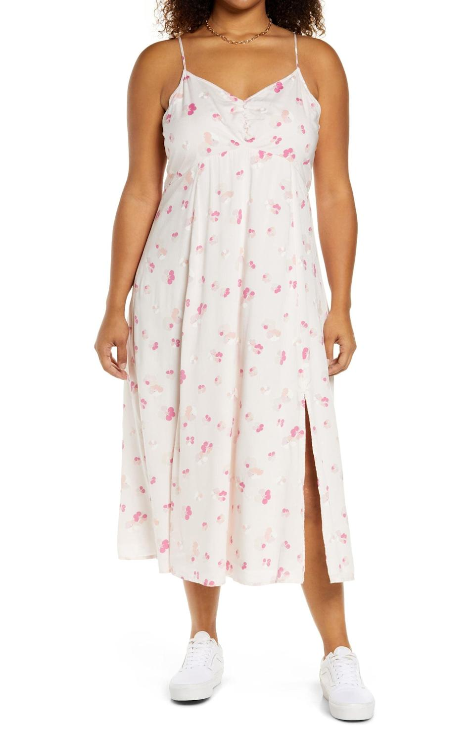<p>The print and silhouette of this <span>BP. Floral Cami Midi Dress</span> ($69) make it stylish and airy. Pair with sneakers for a laidback look or low-heeled mules for a dressier appearance.</p>