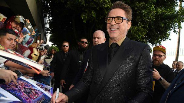 PHOTO: In this April 22, 2019, file photo Robert Downey Jr. signs autographs as he arrives at the premiere of 'Avengers: Endgame' at the Los Angeles Convention Center. (Chris Pizzello/Invision/AP, FILE)