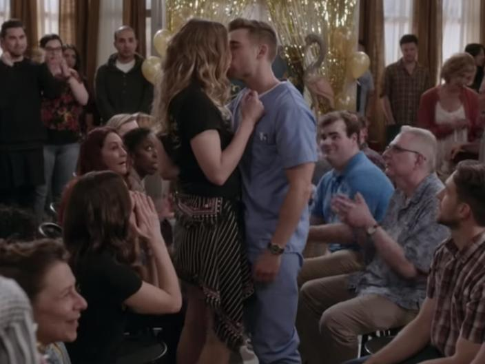 schitt's creek ted and alexis