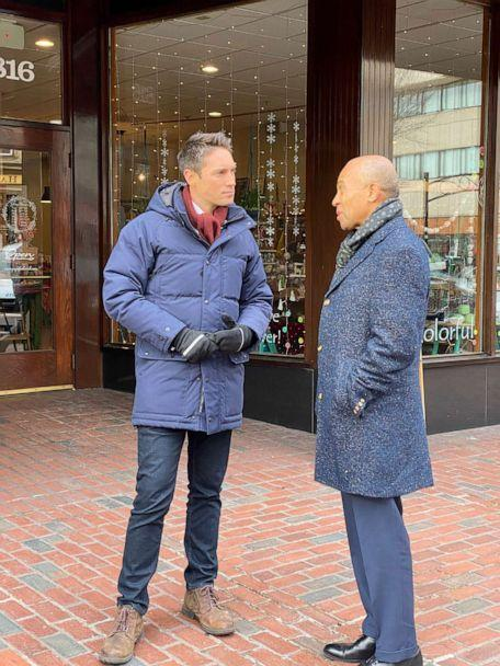 PHOTO: Deval Patrick speaks with ABC News, Nov. 14, 2019, in Manchester, NH. (ABC News)