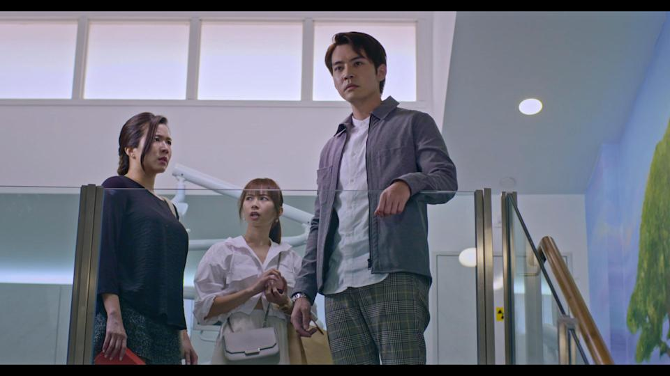 Rui En, Bonnie Loo and Desmond Ng in Channel 8 drama The Heartland Hero. (Photo: Mediacorp)