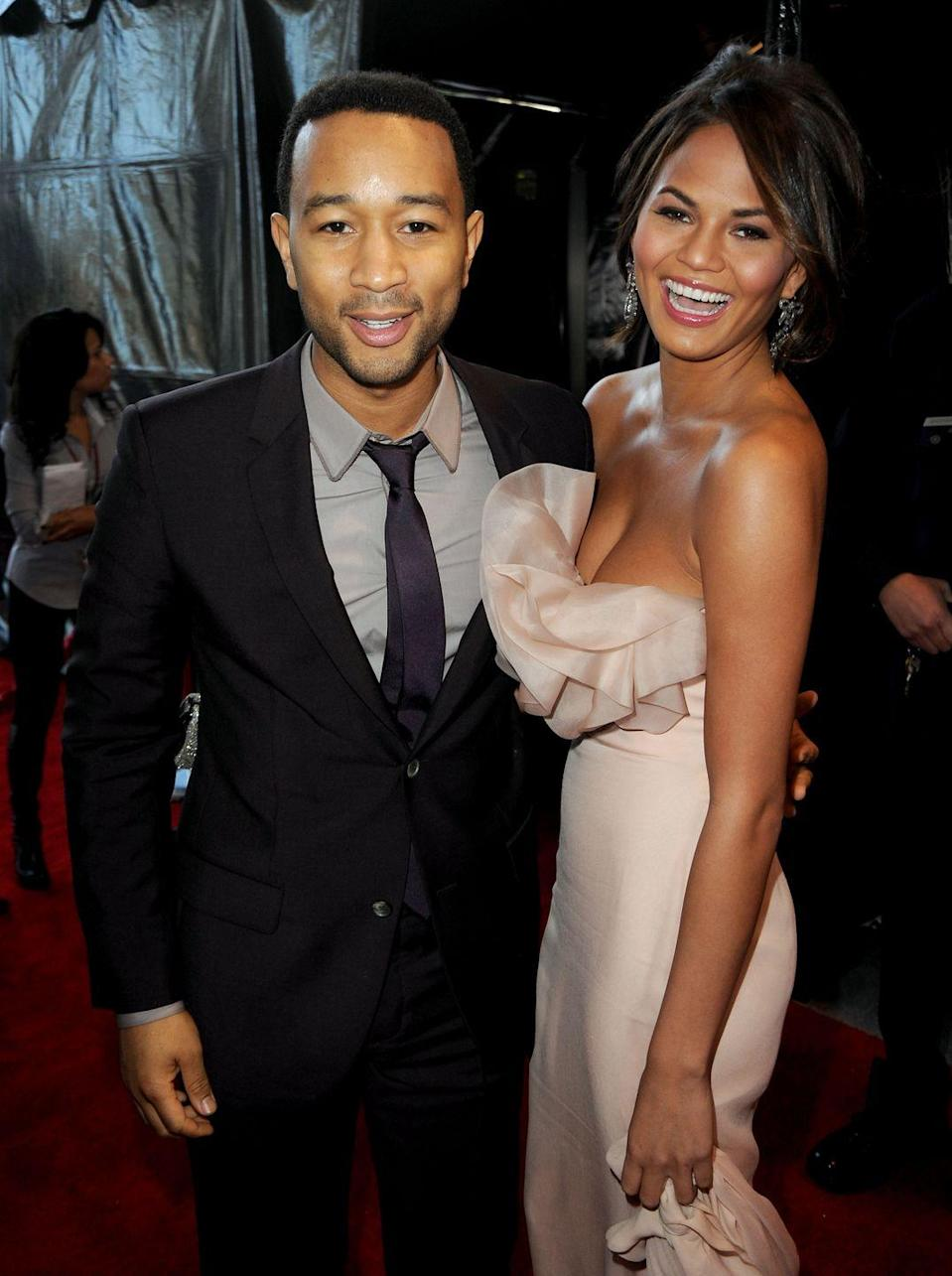 <p>The couple at the American Music Awards in LA.</p>