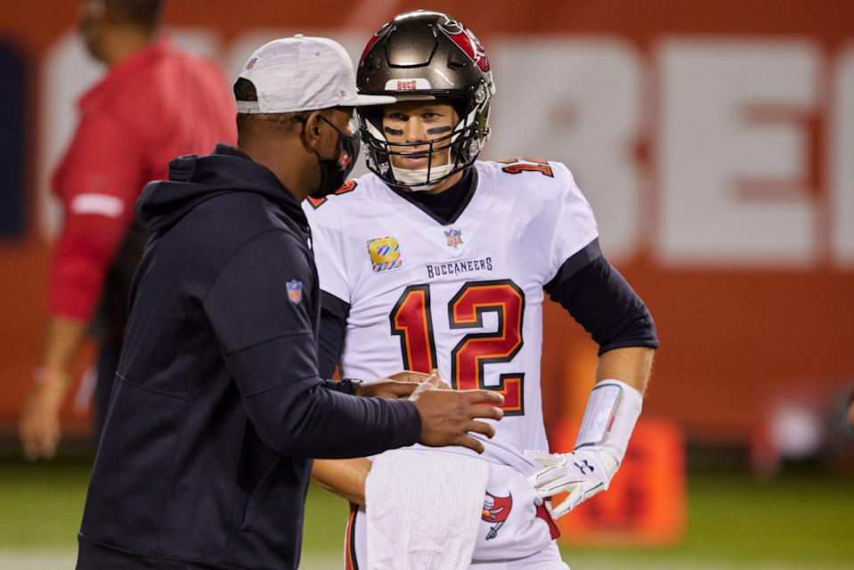 Tom Brady has responded well to the coaching of Byron Leftwich and the Bucs' staff. (Photo by Robin Alam/Icon Sportswire via Getty Images)