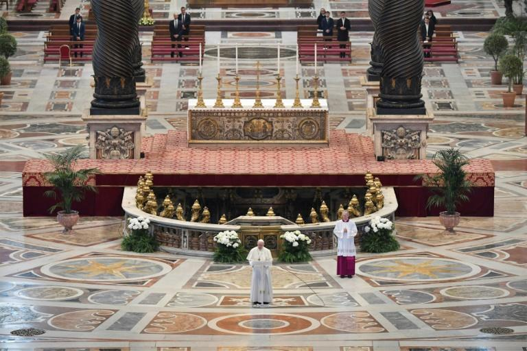 The pope's Easter Sunday message was peppered with prayers for the ill and urged European solidarity to fight the pandemic