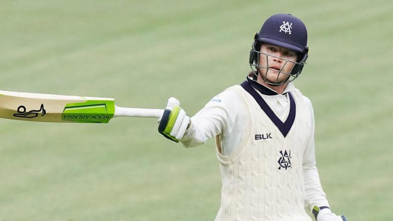 Victoria's Will Pucovski (62) batted well and will resume with skipper Peter Handscomb (44)