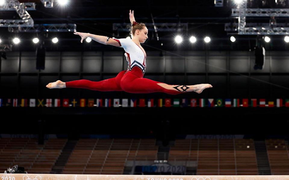 German Olympic gymnasts wear full-length bodysuits in stand against 'sexualisation' in sport - SHUTTERSTOCK