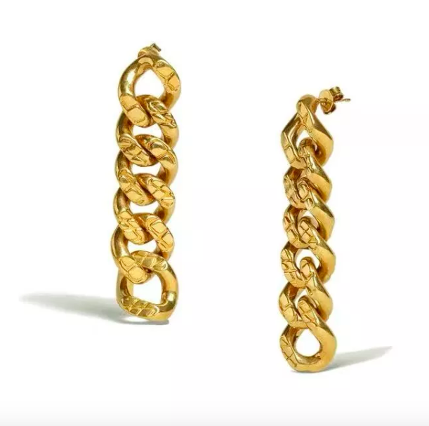"<p><strong>Oma The Label</strong></p><p>omathelabel.com</p><p><strong>$79.00</strong></p><p><a href=""https://www.omathelabel.com/shop/the-osa-drop-earrings"" rel=""nofollow noopener"" target=""_blank"" data-ylk=""slk:Shop Now"" class=""link rapid-noclick-resp"">Shop Now</a></p><p>These chain earrings will go perfectly with your cozy sweater this winter. </p>"