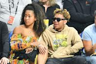 """<p>It looks like Naomi and Cordae can definitely get a little bit sentimental. With their relationship officially in the open, the pair stepped out together on the eve of their one-year anniversary from when they first met. To celebrate, they went back to the place where it all started: Staples Center. Photos were captured of <a href=""""https://www.popsugar.com/celebrity/photo-gallery/47911628/embed/47911672/cordae"""" class=""""link rapid-noclick-resp"""" rel=""""nofollow noopener"""" target=""""_blank"""" data-ylk=""""slk:the two snuggling up with each other"""">the two snuggling up with each other</a> throughout the night.</p>"""