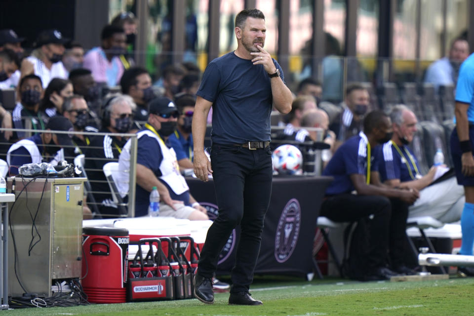 Galaxy players say new head coach Greg Vanney is already changing the culture at the club, and the results the first two weeks speak for themselves. (AP Photo/Lynne Sladky)