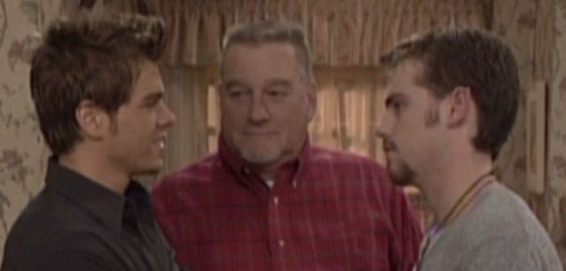 Chet Hunter (Blake Clark) visits his sons from beyond the grave in the series finale of <em>Boy Meets World</em>. (Photo: ABC)
