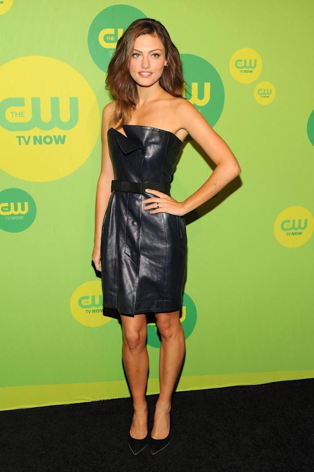 NEW YORK, NY - MAY 16:  Actress Phoebe Tonkin attends The CW Network's New York 2013 Upfront Presentation at The London Hotel on May 16, 2013 in New York City.  (Photo by Ben Gabbe/Getty Images)