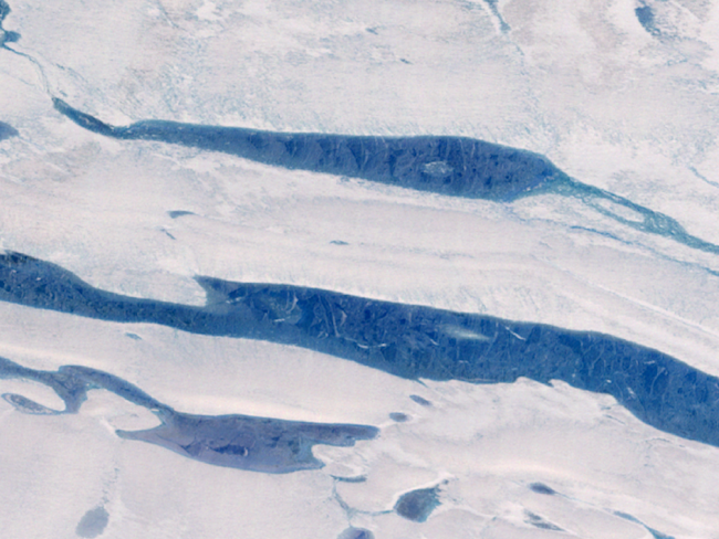 antarctica amery ice shelf surface melt water nasa