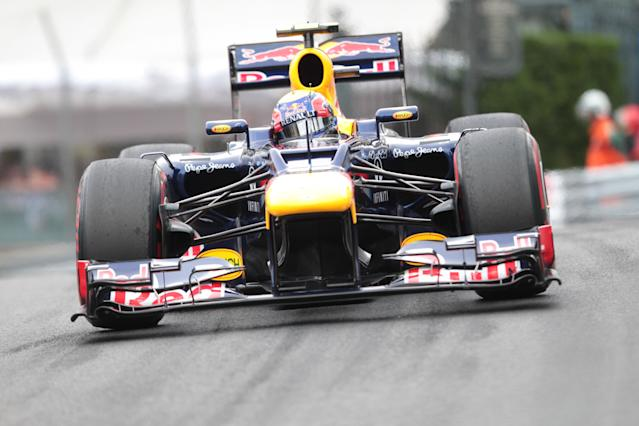 Red Bull Racing's Australian driver Mark Webber drives at the Circuit de Monaco on May 27, 2012 in Monte Carlo during the Monaco Formula One Grand Prix. AFP PHOTO / JEAN-CHRISTOPHE MAGNENETPATRICE COPPEE/AFP/GettyImages