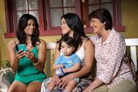 """<p><strong>Jane the Virgin</strong> follows three generations of Hispanic women all living under the same roof, but at its heart, the series is a coming-of-age tale centered on Jane (Gina Rodriguez). After going in for a routine checkup, Jane is accidentally artificially inseminated, which changes her life forever. Watching Jane grow with the support of the amazing women in her life is an absolute joy that just gets better with every season. </p> <p>Watch <a href=""""https://www.netflix.com/title/80027158"""" class=""""link rapid-noclick-resp"""" rel=""""nofollow noopener"""" target=""""_blank"""" data-ylk=""""slk:Jane the Virgin""""><strong>Jane the Virgin</strong></a> on Netflix now.</p>"""