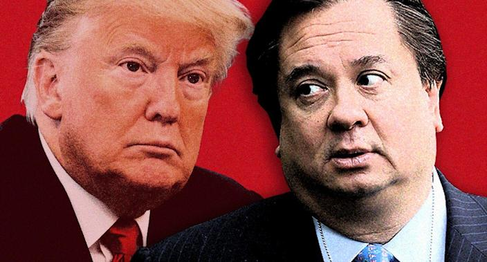 President Trump and George Conway. (Photo illustration: Yahoo News; photos: AP, Chip Somodevilla/Getty Images)