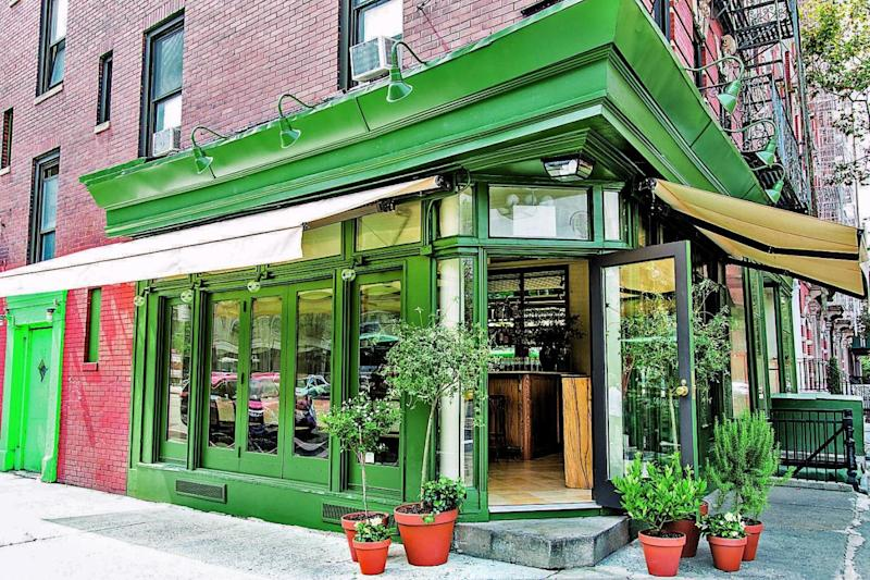 Food rules: the exterior of King; one of its dishes, right