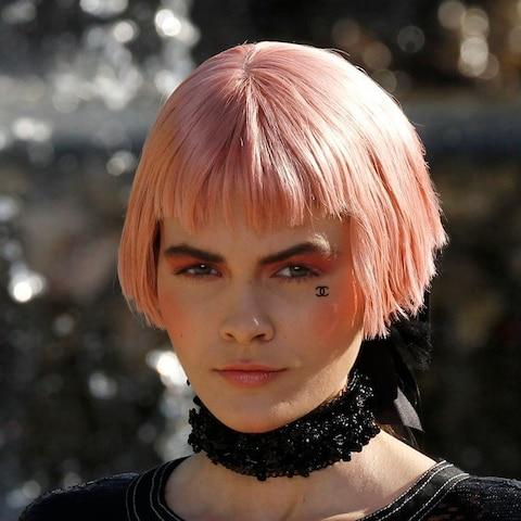 Pink hair at Chanel Cruise 2012 - Credit: BENOIT TESSIER/Reuters