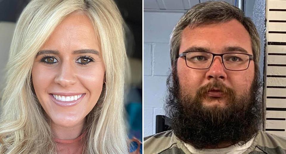 Sydney Sutherland, 25, and Quake Lewellyn, 29, are pictured.