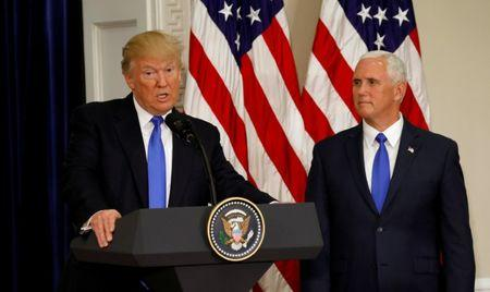 FILE PHOTO - U.S. President Donald Trump speaks at the first meeting of the Presidential Advisory Commission on Election Integrity chaired by Vice President Mike Pence (R) at the White House in Washington, U.S. on July 19, 2017.  REUTERS/Kevin Lamarque/File Photo