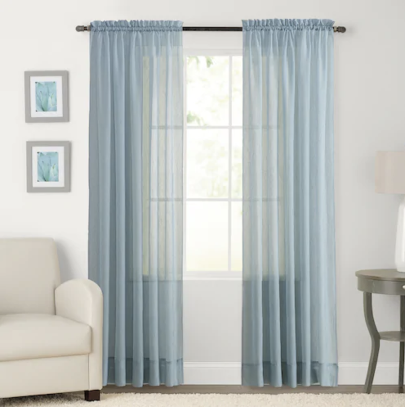SONOMA Goods for Life 2-pack Sheer Crushed Voile Window Curtain. (Photo: Kohl's)