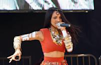 """<p><em>The Vampire Diaries </em>actress Kat Graham was a backup dancer for some of the biggest in biz, including Pharrell, Missy Elliot, and Usher. Kat <a href=""""https://www.vice.com/en/article/6vgpx3/scrapbook-kat-graham-tbt"""" rel=""""nofollow noopener"""" target=""""_blank"""" data-ylk=""""slk:got her start at 15"""" class=""""link rapid-noclick-resp"""">got her start at 15</a> as a backup dancer for Bow Wow after catching the eye of choreographer Fatima Robinson. </p>"""