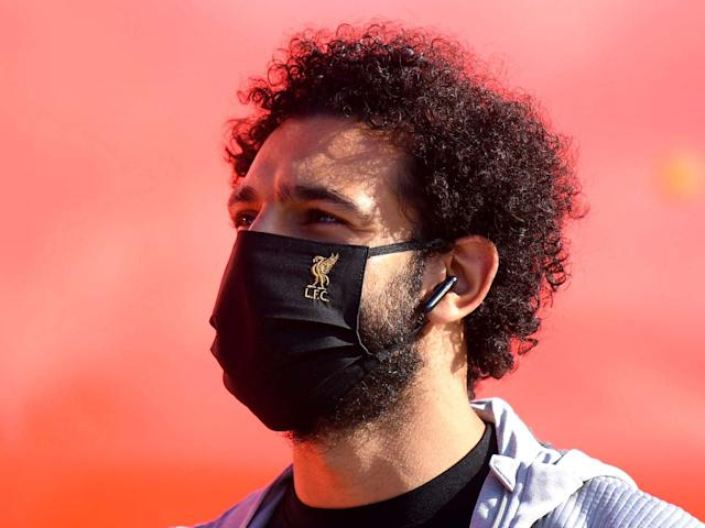 Mohamed Salah arrives at the Etihad Stadium earlier this week: Getty Images