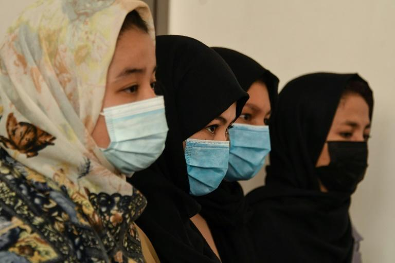 Zarghunna Noori said many women taekwondo athletes in Afghanistan are now in hiding (AFP/Hoshang Hashimi)