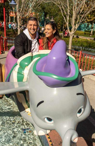 PHOTO: PHOTO: Professional athlete and sports analyst Tim Tebow and fiancee Demi-Leigh Nel-Peters strike a pose with Cinderella and Prince Charming at Magic Kingdom Park at Walt Disney World Resort in Lake Buena Vista, Fla., Friday, Jan. 11, 2019. (Kent Phillips, Photographer )