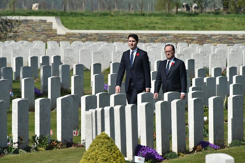 3,598 Canadians lost their lives at Vimy (AFP Photo/Philippe HUGUEN)