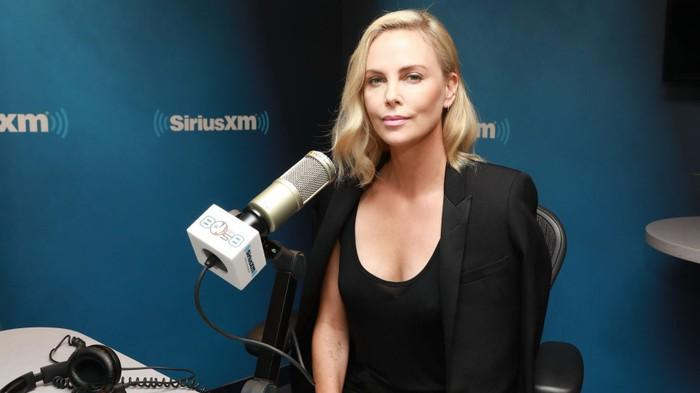 Charlize Theron at a Sirius XM Town Hall interview.