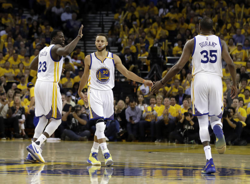 ad900b0a9e7b Stephen Curry says he s  proud  of how Draymond Green and Kevin Durant have  handled feud