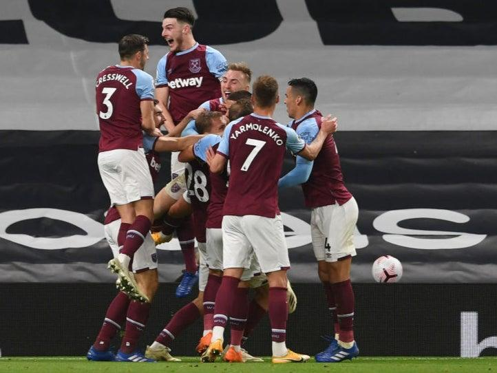 West Ham celebrate their late equaliser (Getty Images)