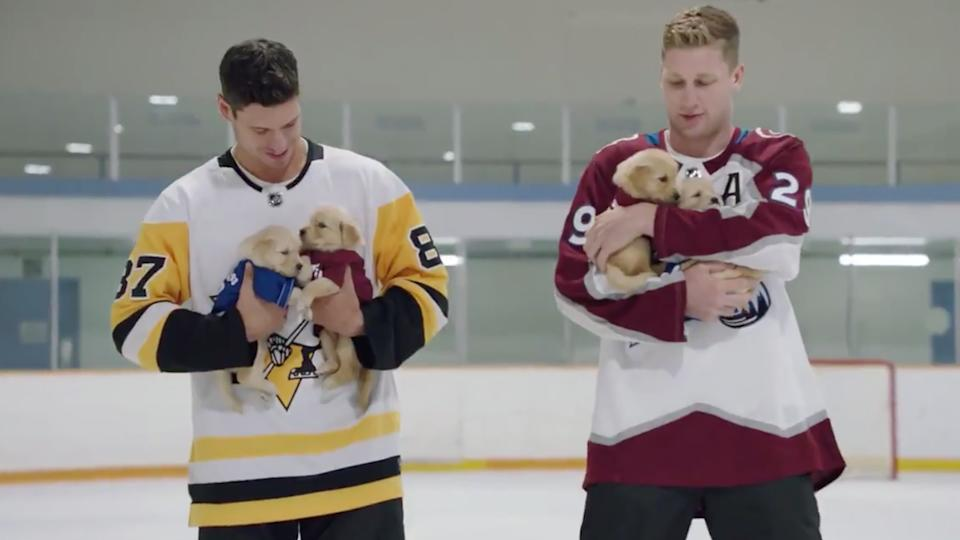 Sidney Crosby and Nathan MacKinnon