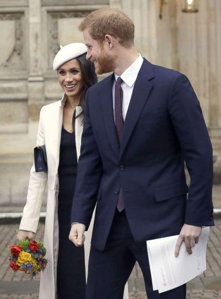 PHOTO: Britain's Prince Harry leaves with his fiancee, U.S. actress Meghan Markle after attending a Commonwealth Day Service at Westminster Abbey in central London, March 12, 2018.<p>(Kirsty Wigglesworth/AFP/Getty Images)
