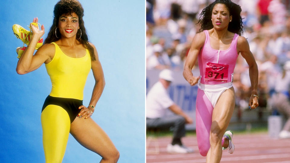 Florence Griffith Joyner, pictured here before her tragic death.